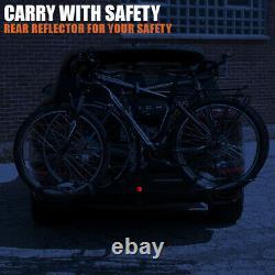 2 Bike Trunk Rack Rear Mount Two Bikes Carrier Car SUV Bicycle Sedans Sturdy BV