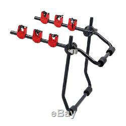 3 Bike Cycle Car Carrier Rear Metal Boot Trunk Rack for Saloon Hatchback Estate