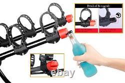 3 Bike Rack for Car Universal Carrier Trunk Mount Rear Racks Frame Lock free