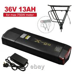 36V 13Ah Rear Rack For Electric Bicycle Lithium E bike BATTERY Kit for 500W-750W