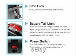 36V 31.5AH E-bike Electric Bike Lockable Li-ion Samsung Battery with Rear Rack