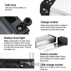 48V 13Ah 12.5Ah Li-ion battery + charger + rack set e-bike electric bike 1000W