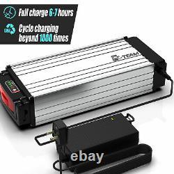 48V 20Ah 1000W Rear Rack Carrier E-bike Li-oin Battery Pack +3A Charger UK Stock