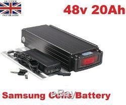 48V 20Ah 1000W Rear Rack E-bike Li-oin Battery Electric Samsung Cells +Charger