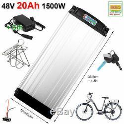 48V 20Ah 1500W Lithium E-bike Battery Pack + Rear Rack + Charger Kits 50A BMS
