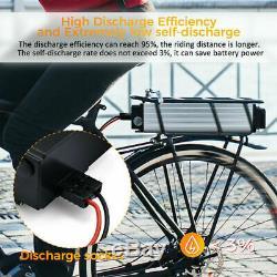48V 20Ah LED Rear Rack Carrier Li-ion Lithium Battery Electric Bike 1000W 1500W