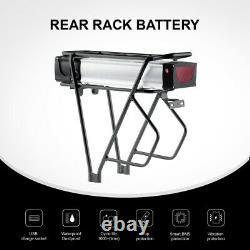48V20Ah E-bike Electric Bicycle Li-ion Rear Rack Battery with Carrier 5V1A USB
