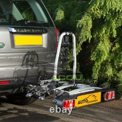 AUTOC-19 Car 4x4 Rear Towbar Tow Ball Mount 3 Cycle Bike Platform Rack Carrier