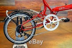 Bike Friday Tikit Folding Bike with Hardshell Travel Case 1x8 with rear rack