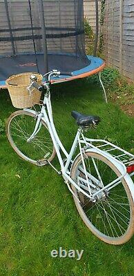 Bobbin Birdie ladies bike with rear cycle rack and stand, Sturmey Archer 3 gear