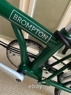 Brompton Folding Bike H6r (2019) Racing Green, Rear Rack, Mint Condition