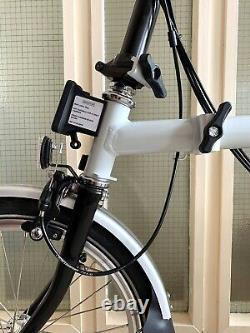 Brompton Folding Bike M6r (2019) Papyrus White /black +rack +bag +rare & Mint