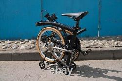 Brompton Folding Bike Ti Parts Workshop Titanium Carbon Rear Rack Black Edition