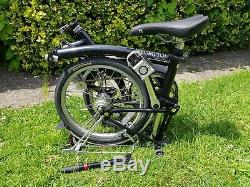 Brompton M3R Folding Bicycle 2005 (Gloss Black) Rear Rack & Pump Included