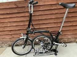 Brompton M5r Black 5 Speed With A Rack