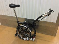 Brompton M6R Black 6 Speed with Rack Folding Bike Bicycle Worldwide Shipping