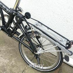 Brompton P6R Hi Bar Black Brooks Saddle Ortlieb bag, rear Rack carry case Ex Con