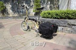 Brompton Rear Pannier Bag Bike Bicycle Bag Rack Seat Trunk Saddle Tail Storage