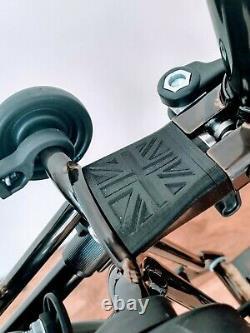 Brompton S6R Black Lacquer CUSTOM Black Edition, rear rack tan wall tyres C17
