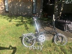 Brompton folding Bike M6R, P Handlebars(6speed, Mudguard, Rack, Eazy Wheels)
