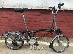 Brompton folding bike M6R (6-speed, mudguards+ Rack)