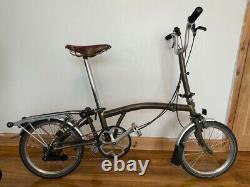 Brompton folding bike M6R (6-speed, rack, mudguards)