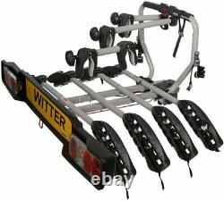 Car Bike Rack Carrier Towbar Holds 4 Bikes Bolt-on towball Mounted 60KG Load
