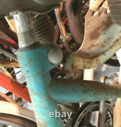 Columbia step-thru with gas tank, fenders, rear rack & chain