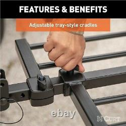 Curt 18085 Tray-Style Hitch Mounted Steel 2-Bike Rack for 1.25/2 Receivers