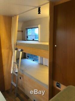 Dethleffs Eurostyle 6/7 berth motorhome, double dinette, rear washroom, bunk beds