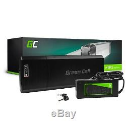 E-Bike Battery 24V 13Ah Li-Ion Rear Rack with Charger Electric Bicycle
