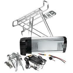 E-bike Battery 18Ah silver (26 28) + rear rack + charger + key