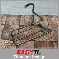 EasyTi/Titanium Rear Rack for Rear Triangle fork 135mm disc brake Brompton Bike