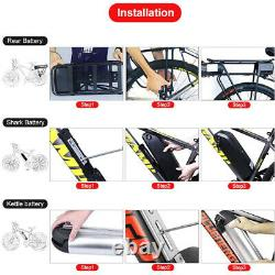 Electric Bike Battery 52V 14Ah 48V 36V 12Ah 17.5Ah Lock Battery With Chager