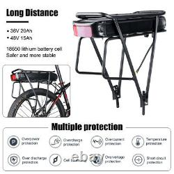 Electric bike Rear Rack Battery 36V 20Ah 48V 17.5Ah for Bafang motor 250W-1000W