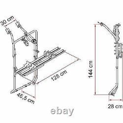 Fiamma Carry-Bike Rack Vw T5 and T6 Double Twin Barn Rear Doors for 2 02093-B79A
