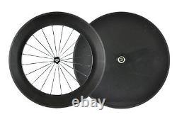 Front 88mm rear Disc Wheel Road Carbon Wheelset Clincher Racking Bike Wheels