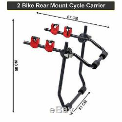 High Quality Rear Trunk Boot Mount 2 Bicycle Carrier Car Rack Bike Cycle