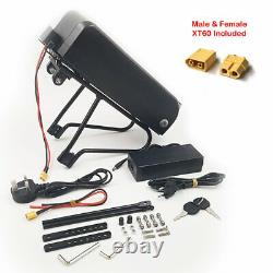 Lockable E-Bike Rear Rack Battery & Charger 36V 13Ah Li-Ion Electric Bicycle UK
