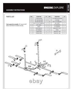 Pro Series Q-Slot 4 Bike Rack Carrier Rear Hitch Mount 2 Inch Rail Rack Platform