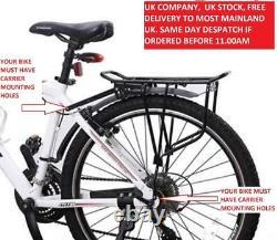 RDK Bike/Cycling Expedition Rear Road Bike/Cycle/Cycling Pannier Bag Rack Black