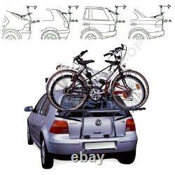 Rear Mounted 2 Bikes Bike Carrier Rack Cycle Holder Trunk Mount STEEL BIKE 2