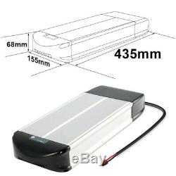 Rear Rack Li-ion Lithium Battery Pack 36V 10Ah With Charger for 500W Electric Bike