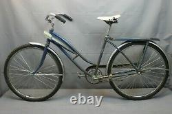 Sears 1955 Vintage Cruiser Bike 47cm Small SS Coaster StepThru Steel USA Charity