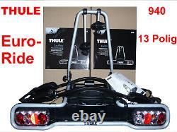 Thule Rack Carrier Tow Trailer Hitch Euroride 940 2 Bikes 36kg Foldable 13 Pole