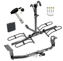 Trailer Tow Hitch For 03-19 Corolla Platform 2 Bike Rack with Hitch Lock + Cover