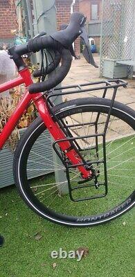 Trek 520 bike with front and rear Bontrager racks, just load up and head off