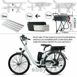UK 48V 20Ah 1000W Rear Rack E-bike Li-oin Battery fr Electric Bicycle+3A Charger