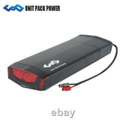 UPP 36V 13Ah 17,5Ah Rear Rack E-bike Battery Li-ion Pack LED Lockable 200W-500W