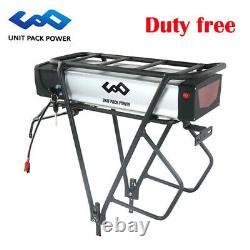 UPP 48V 20Ah Ebike Battery LED Rear Rack Lithium Battery for 1000W E-bike Motor